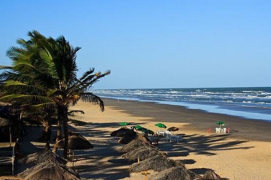 Praia em Aracaju com coqueiros