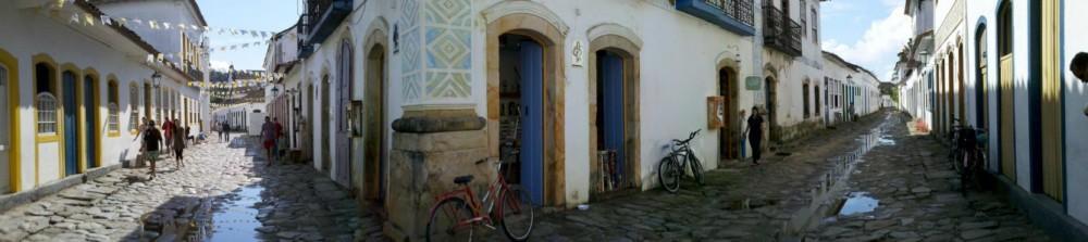 Panorâmica do centro histórico de Paraty
