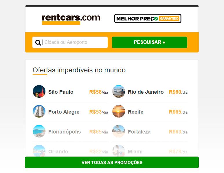 Ofertas Rentcars.com - Aluguel de carros 22/02/17