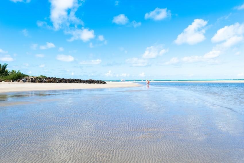 Mar da Praia de Maragogi em Maceió