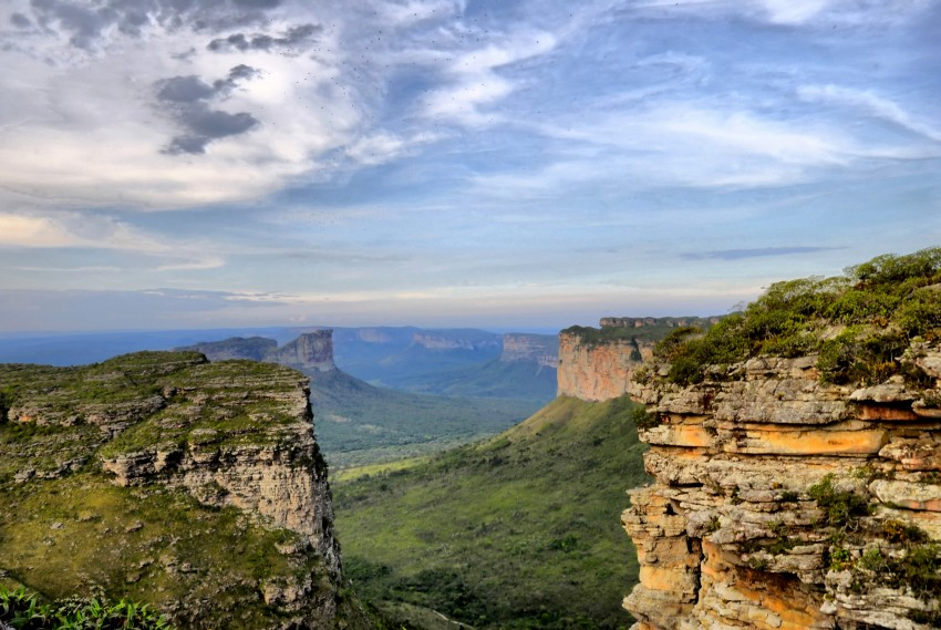 Vista do alto da Chapada Diamantina