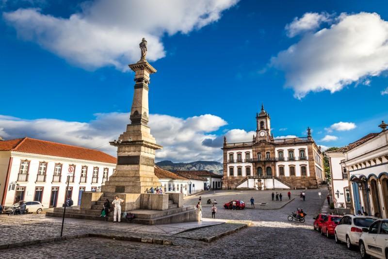 Centro histórico de Ouro Preto, MG, com o Museu da Inconfidência ao fundo