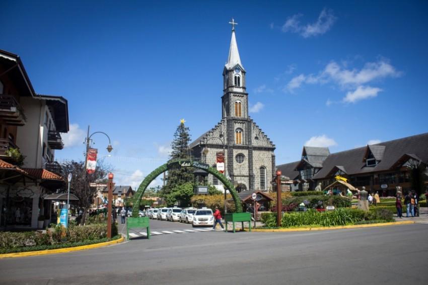 Igreja no centro de Gramado