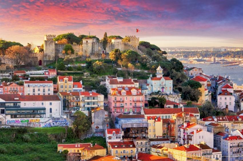 Cidade baixa de Lisboa e Castelo de São Jorge