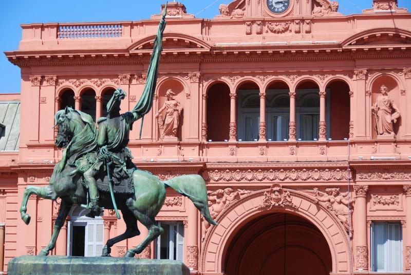 Fachada da Casa Rosada em Buenos Aires