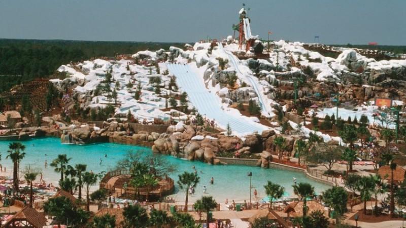 Visão geral do parque Blizzard Beach
