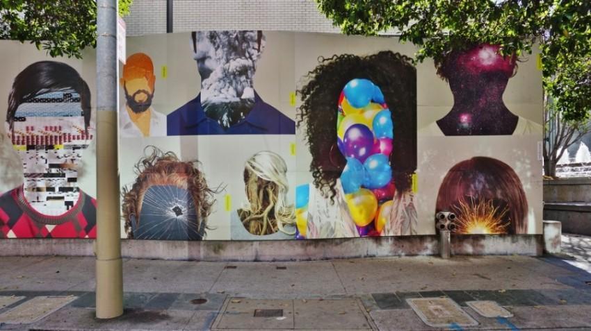 Muro grafitado em Mission Distric San Francisco