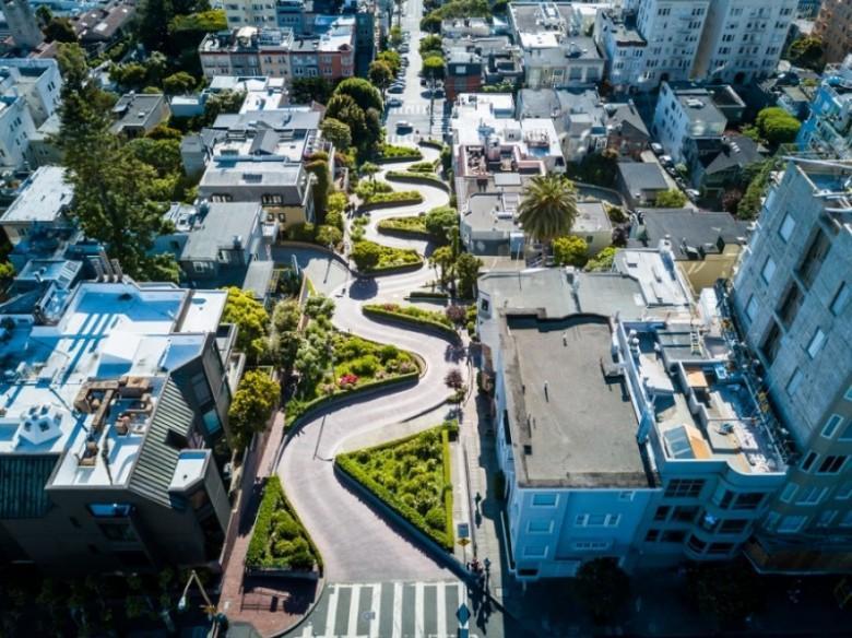 Lombard Street vista de cima