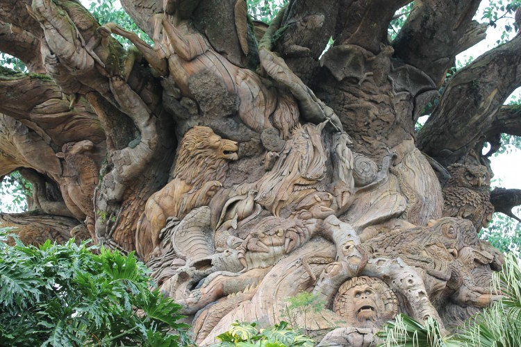 Detalhes da Tree of Life, no Animal Kingdom