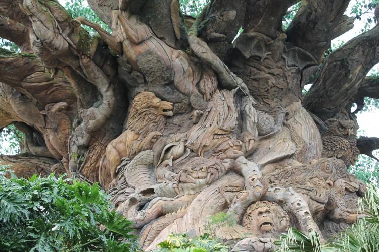 Detalhes da Tree of Life, no Animal Kingdom