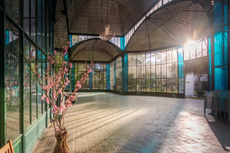 Interior do Palácio de Cristal em Petrópolis