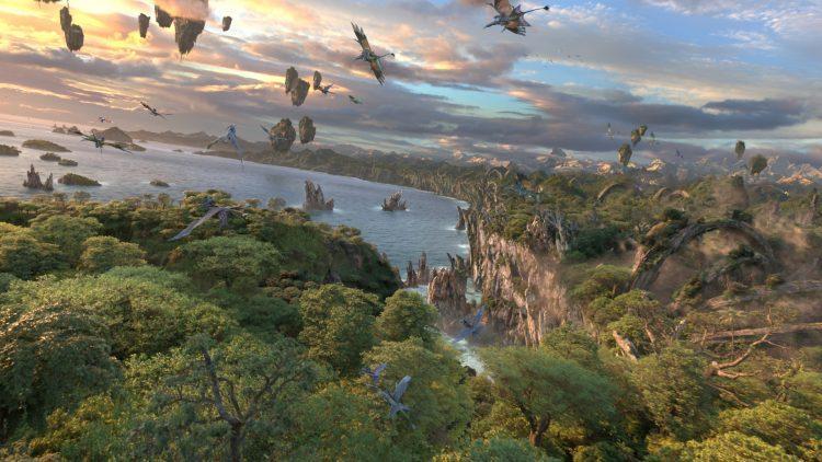 Pandora simulador 3d do alto das árvores