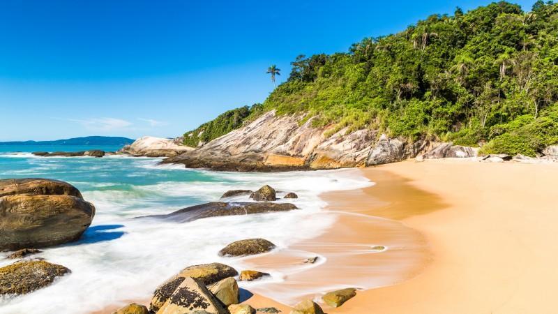 Areia da praia de Estaleirinho