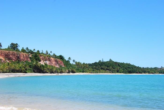 Mar da Praia do Espelho na Bahia