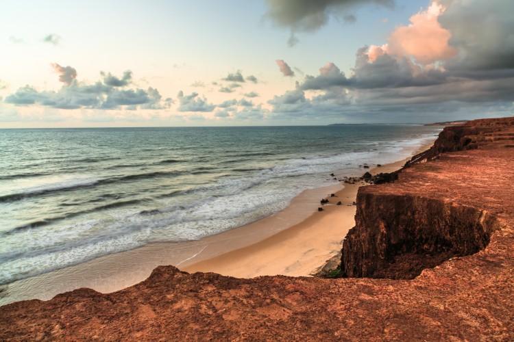 Paredões da Praia de Pipa no Rio Grande do Norte