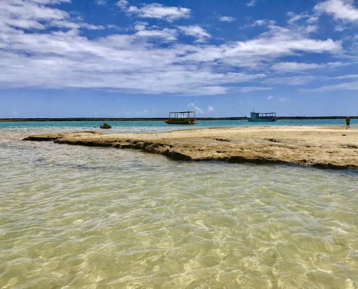 Mar da praia do Francês no Alagoas