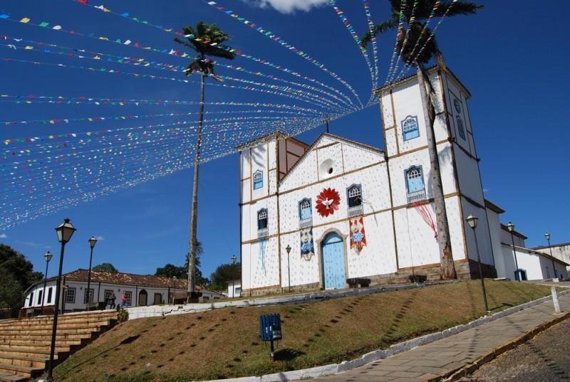 Igreja em Pirenópolis decorada