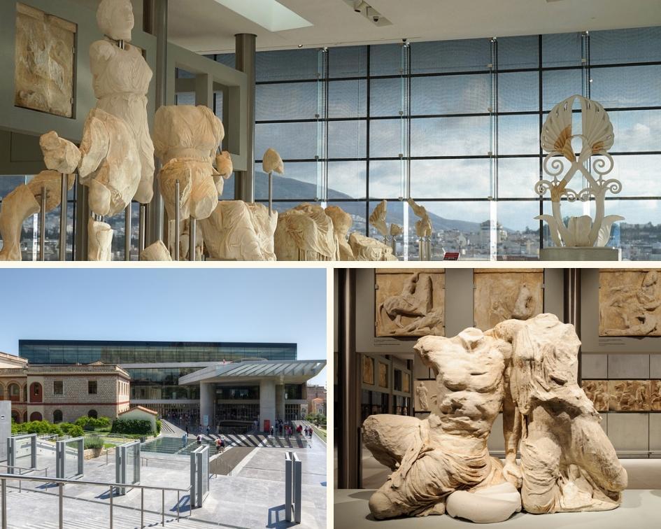 Exposições do Museu da Acrópole em Atenas