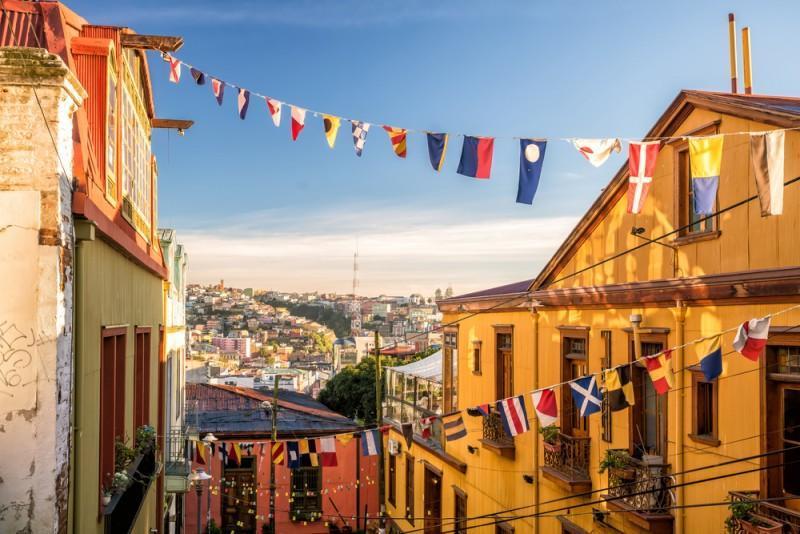 Alto da cidade de Valparaíso, no Chile