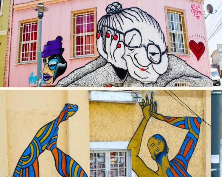Parece com arte de rua em Valparaíso, Chile