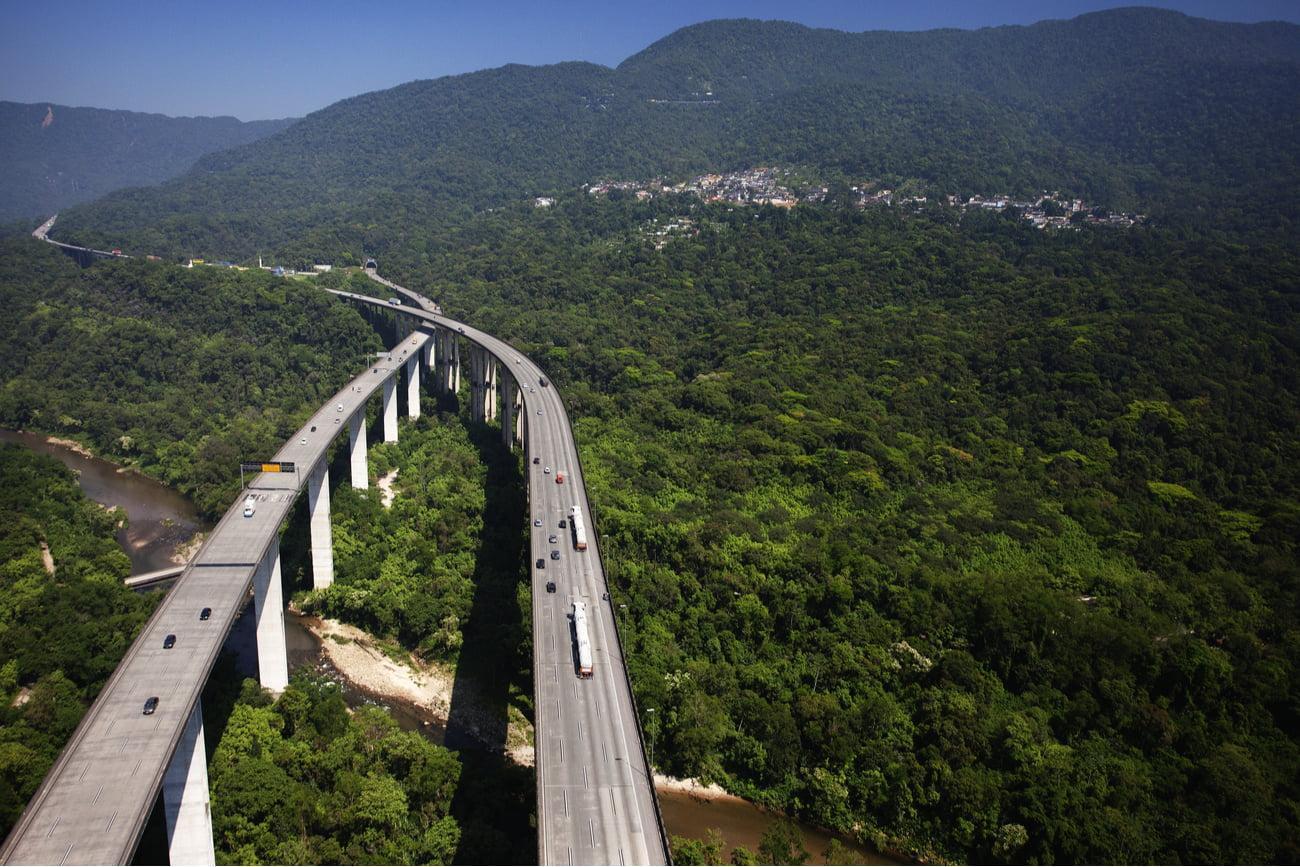 brazilian road top view