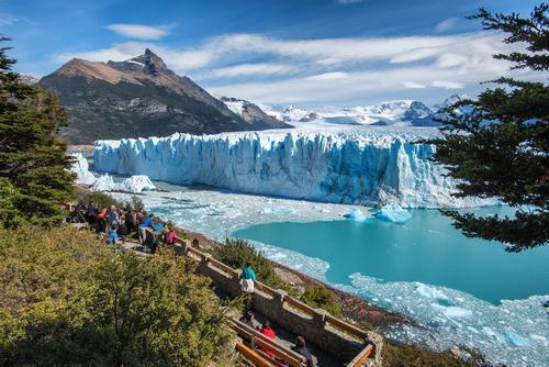 Geleira Perito Moreno no Parque Nacional Glaciares, na Patagônia Argentina.