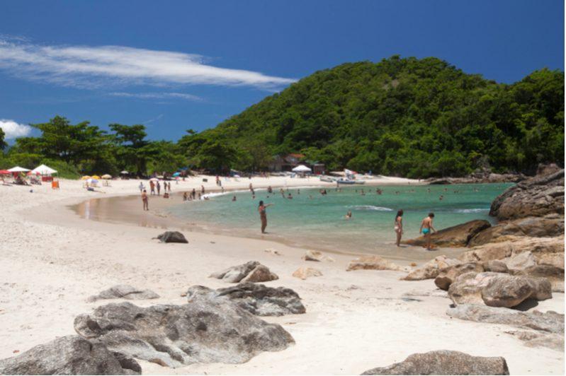 caxadaco beach in ilha grande rio de janeiro