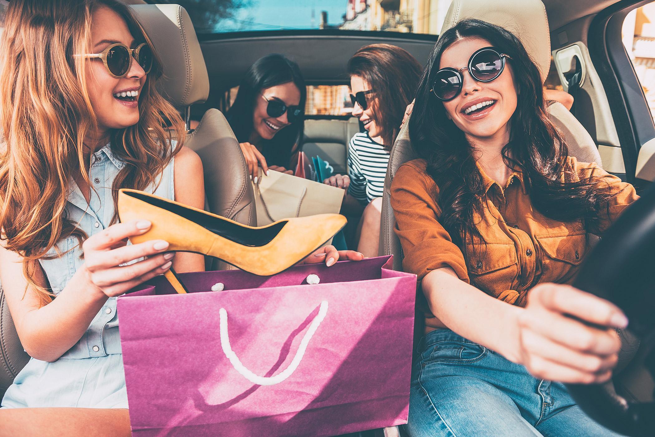 viaje compras buen fin auto chicas bolsas zapatos