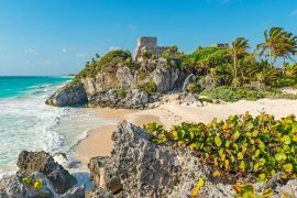 ancient mayan ruins in tulum mexico