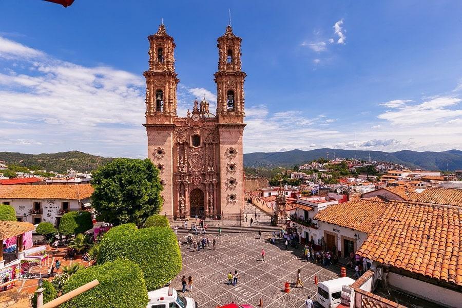 parroquia de Santa Prisca  vista desde las alturas