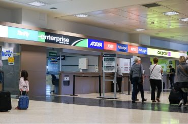 airport car rental booths