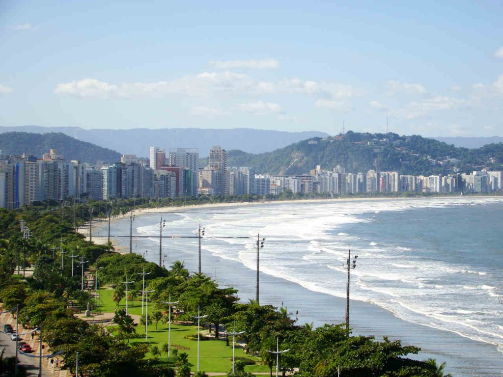 Orla da Praia de Santos, no Litoral Paulista