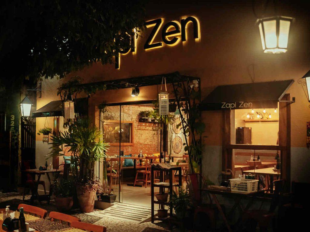Fachada do restaurante Zapi Zen, em Bonito