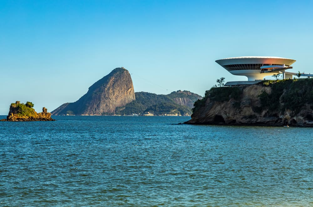 niteroi's contemporary art museum and guanabara bay