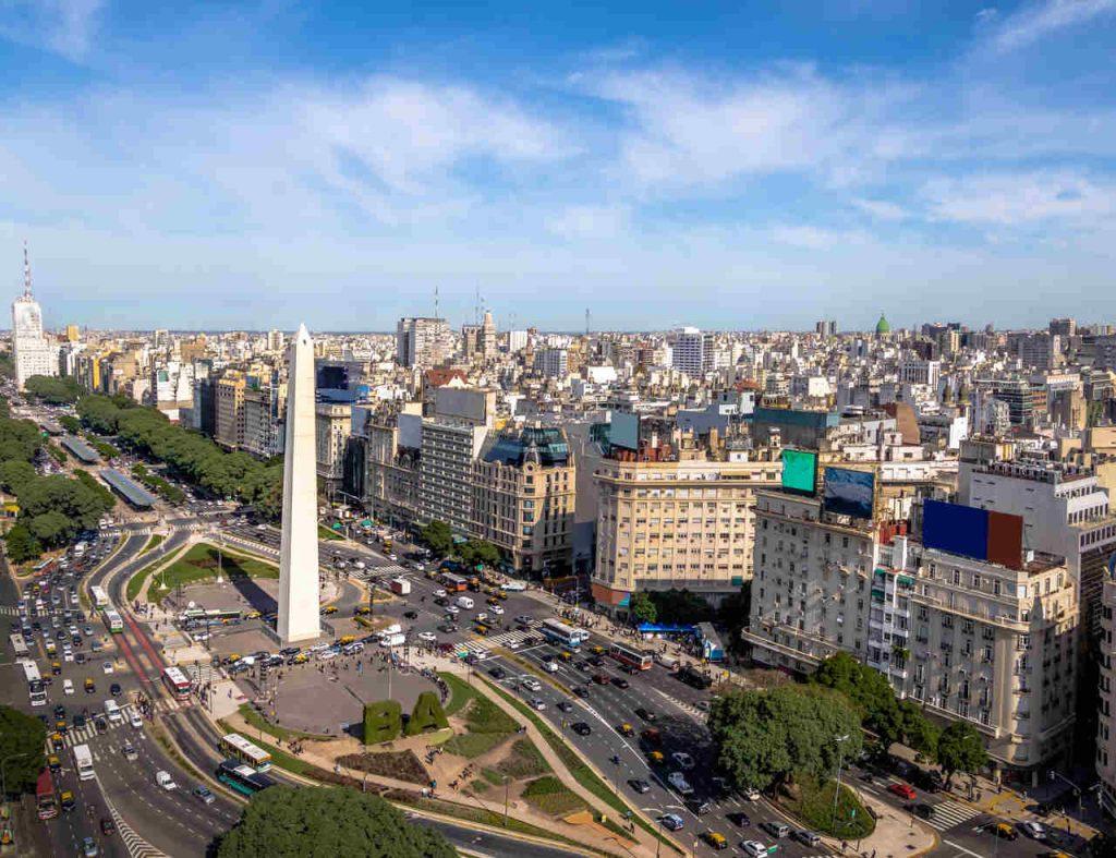 Vista aérea de Buenos Aires, capital da Argentina