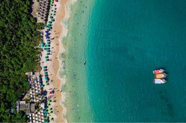 top view of a beach in arraial do cabo rio de janeiro