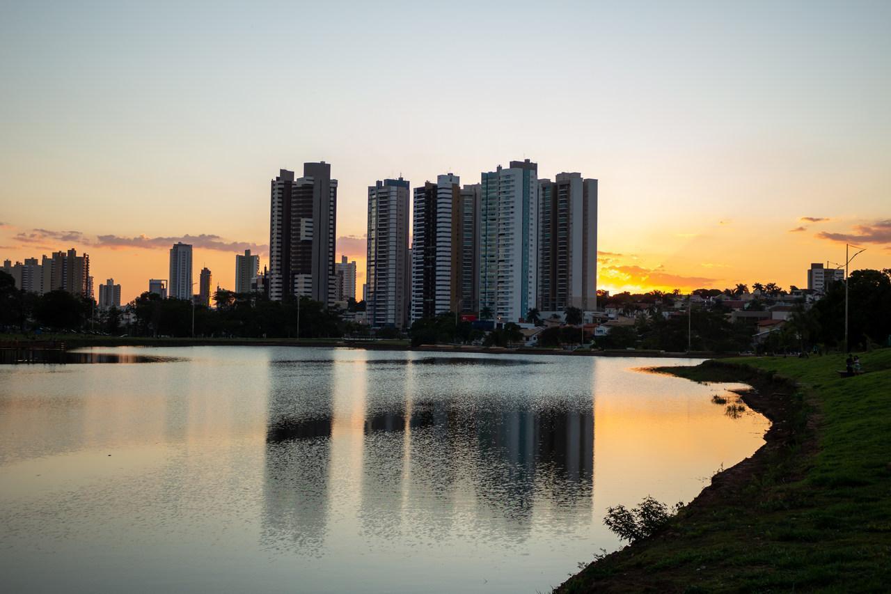 Pôr do sol em Campo Grande no Mato Grosso do Sul