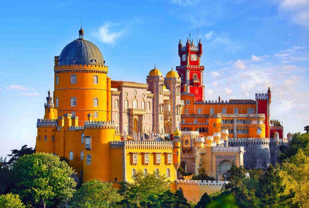 Vista do Palácio da Pena, em Sintra