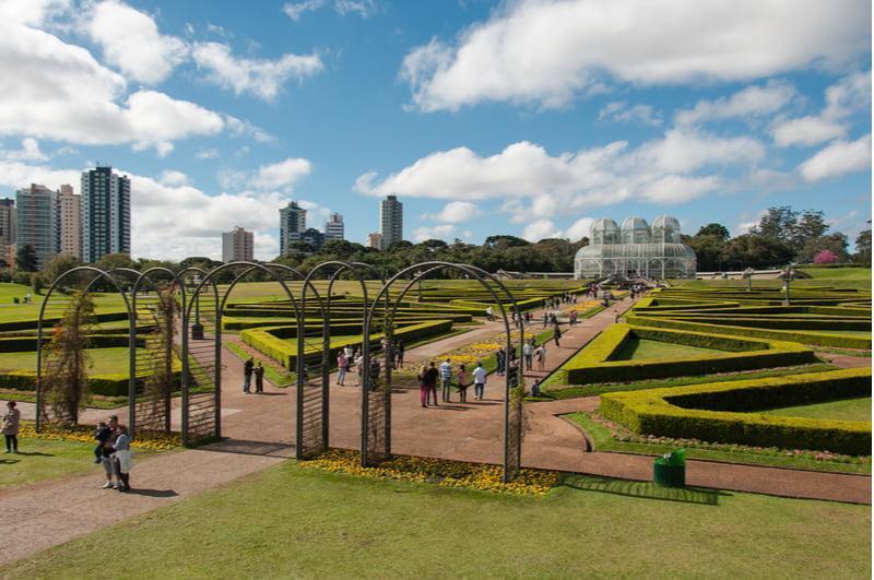 vista panorâmica do jardim botânico de curitiba