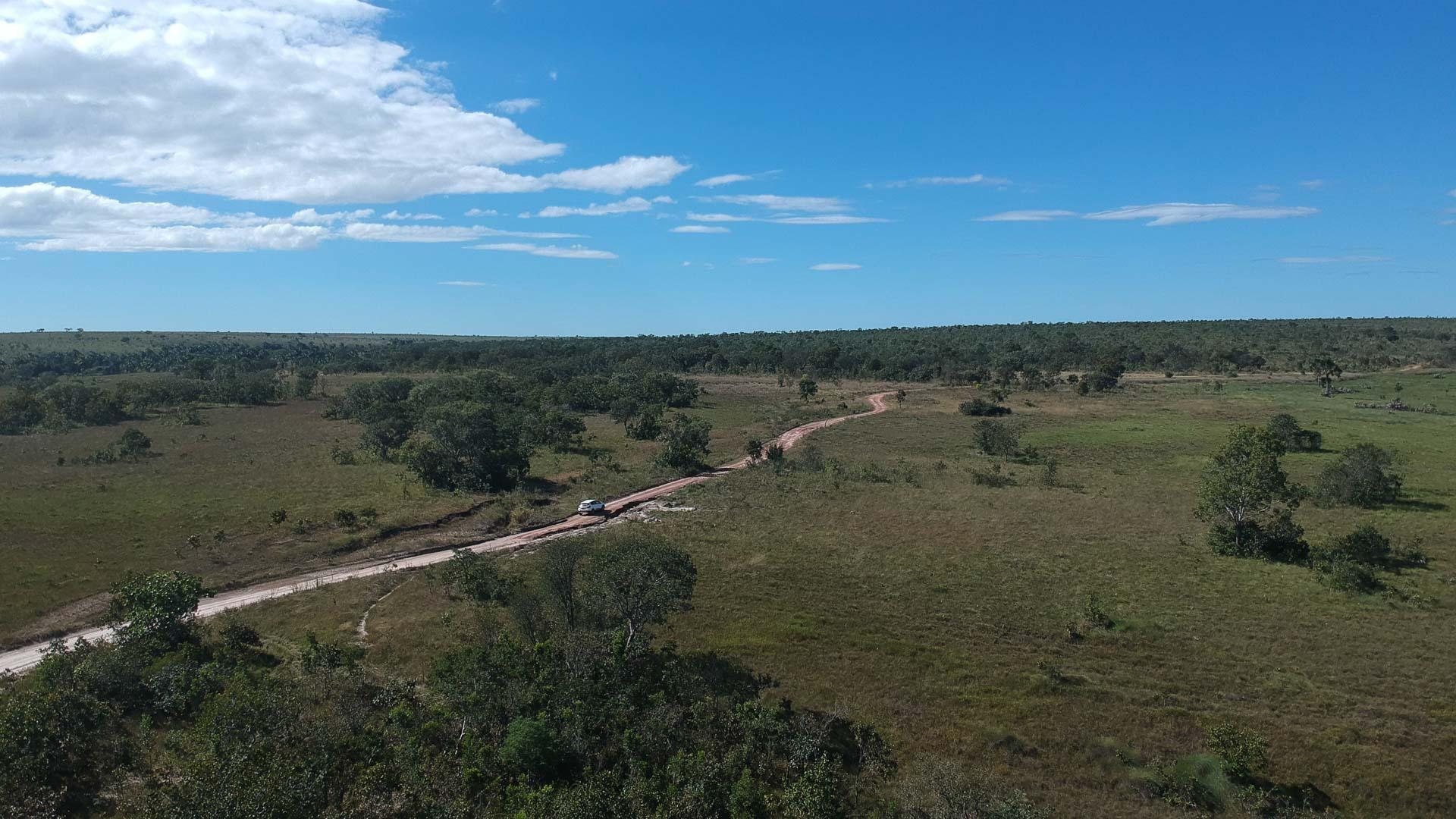 imagem aérea das serras gerais no tocantins