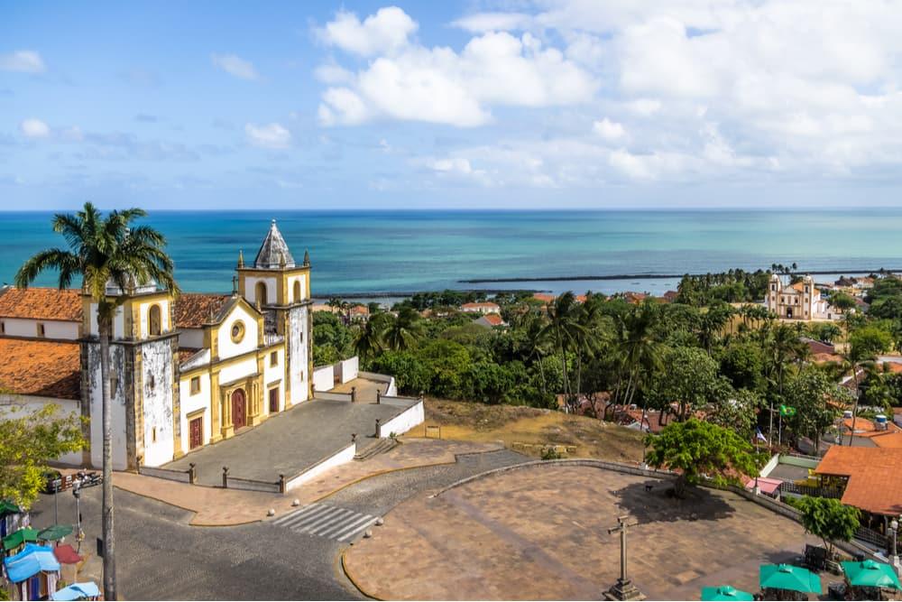 vista aérea da igreja do carmo em olinda pernambuco