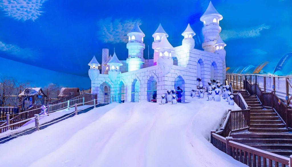 castelo no snowland em gramado