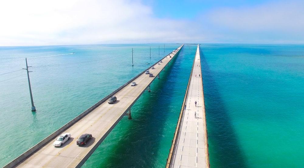 ponte 7 miles bridge em flórida keys